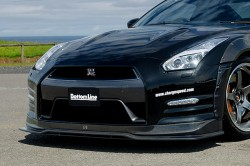 ChargeSpeed/チャージスピ-ド フロントスポイラー with フロントボトムライン ニッサン GT-R/R35 2011~2016 FRP製